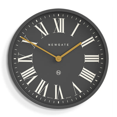 Blizzard Grey reverse dial large Mr Butler Wall clock by Newgate World - PUT469BGY