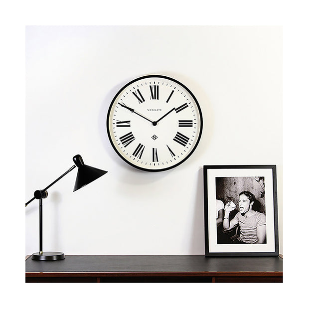 Large Black Roman Numeral Wall Clock - Newgate Italian NUMONE148K (home accessories) 1 copy