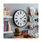 Large Black Roman Numeral Wall Clock - Newgate Italian NUMONE148K (homeware) 1 copy