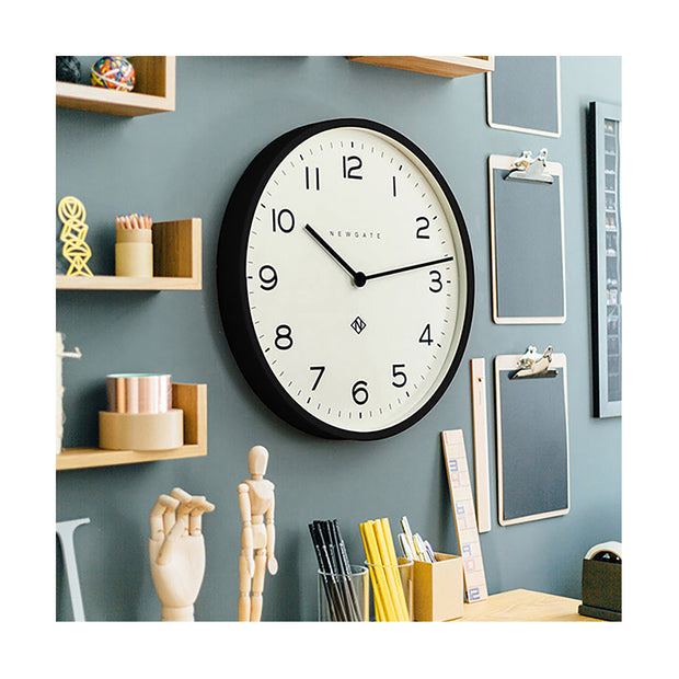 Large Black Wall Clock - Modern Minimalist Dial - Newgate Echo NUMONE149K (homeware) 1 copy