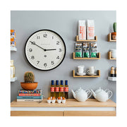 Large Black Wall Clock - Modern Minimalist Dial - Newgate Echo NUMONE149K (room decor) 1 copy