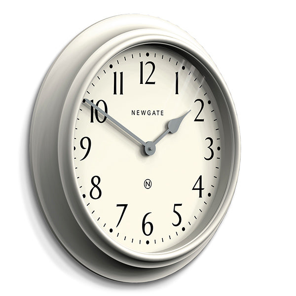 Large Decorative Light Grey Wall Clock - Newgate Westhampton WEST117LIGY (skew)