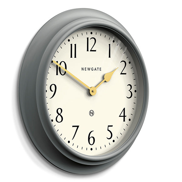 Large Decorative Mid-Grey Wall Clock - Newgate Westhampton WEST117PGY (skew)