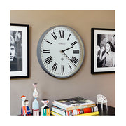 Large Grey Roman Numeral Wall Clock - Newgate Italian NUMONE148PGY (homeware) 1 copy