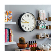 Large Grey Wall Clock - Mid-Century Modern - Newgate Mr Edwards PUT371BGY (homeware) 1 copy