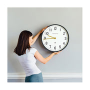 Large Grey Wall Clock - Mid-Century Modern - Newgate Mr Edwards PUT371BGY (lifestyle) 1 copy