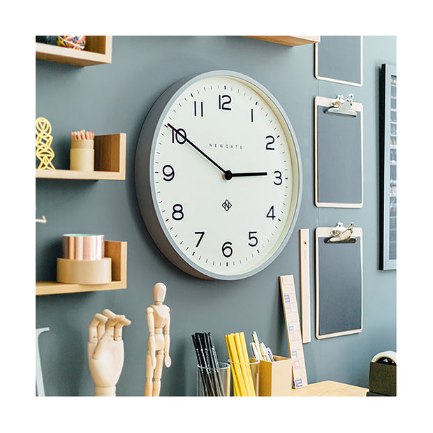 Large Modern Wall Clock - Minimalist Grey - Newgate Echo NUMONE149PGY (homeware) 1 copy