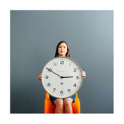 Large Modern Wall Clock - Minimalist Grey - Newgate Echo NUMONE149PGY (lifestyle) 1 copy
