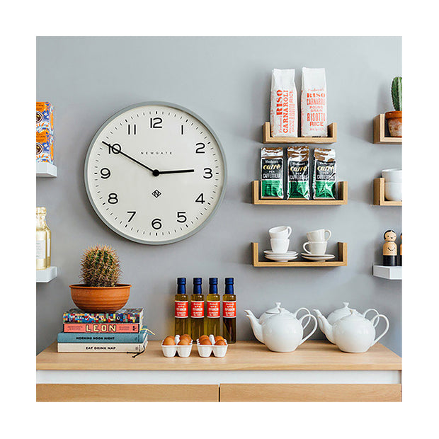 Large Modern Wall Clock - Minimalist Grey - Newgate Echo NUMONE149PGY (room decor) 1 copy