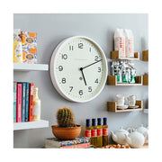 Large Modern White Kitchen Wall Clock - Minimalist - Newgate Echo NUMONE149PW (homeware) 1 copy