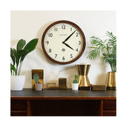 Large Solid Wood Wall Clock - Classic Dark - Newgate Wimbledon SBILL235DO (interior) 1 copy