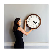 Large Solid Wood Wall Clock - Classic Dark - Newgate Wimbledon SBILL235DO (lifestyle) 1 copy