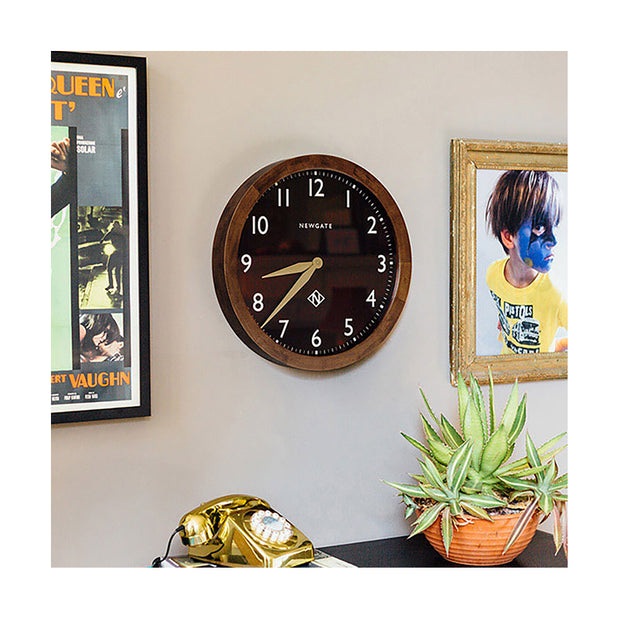 Large Solid Wood Wall Clock - Classic Dark - Newgate Wimbledon SBILL58DO (homeware) 1 copy