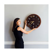 Large Solid Wood Wall Clock - Classic Dark - Newgate Wimbledon SBILL58DO (lifestyle) 1 copy