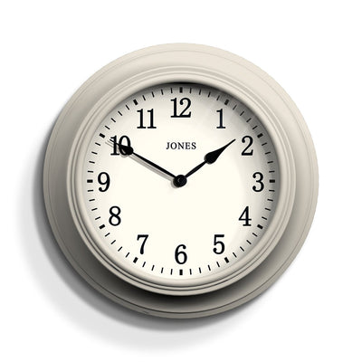 Light Grey Decorative Wall Clock - Jones Clocks Cocktail JCOCKT118LGY