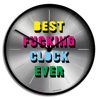 Limited Edition Slogan Wall Clock - Newgate Best Clock Ever NUMONEBEST