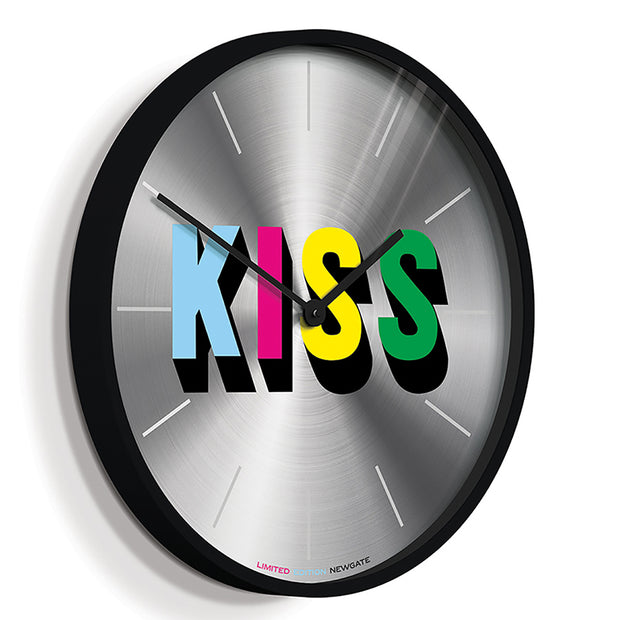 Limited Edition Wall Clock - Newgate Kiss NUMONEKISS (skew)