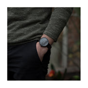 Men's Black-on-Black Aviator Watch - Canvas Strap - Modern Contemporary British Design - Newgate Torpedo WWMDLNRK048LK (fashion)