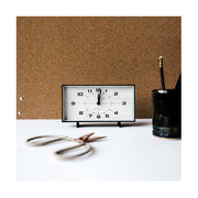 Mid-Century Retro Alarm Desk Clock - Black Rectangular - Newgate Wideboy WIDE453K (homeware) 1 copy