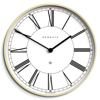 White and pale plywood Mr Architect large wall clock by Newgate World - MRA445PLY53