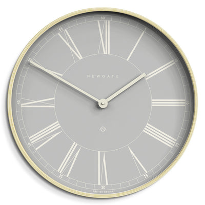 Pale Grey and Pale Plywood large Mr Architect Wall clock by Newgate World - MRA535PLY53
