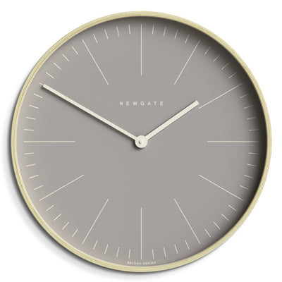 Modern Scandi Wall Clock - Large Plywood & Grey - Newgate Mr Clarke MRC147PLY53 (lifestyle)