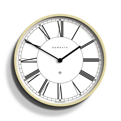 White and pale plywood Mr Architect wall clock by Newgate World - MRA445PLY40