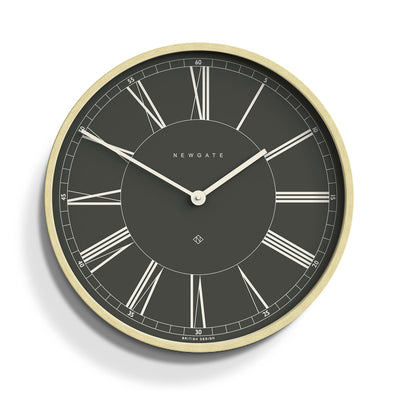 Dark Grey and plywood Mr Architect wall clock by Newgate World - MRA625PLY40