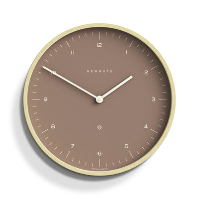 Modern Scandi WallClock  -Plywood Sienna Newgate Mr Clarke - MRC140PLY40