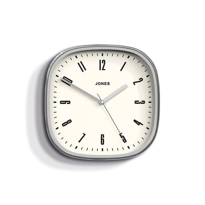 Jones Clocks Marvel retro wall clock in silver effect with an Arabic dial