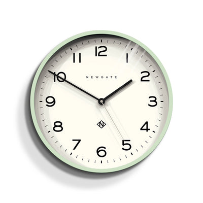 Neo Mint silicone Number Three wall clock by Newgate World - NUMTHR129NM