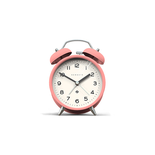 Modern Alarm Clock - Bright Colour Pink - Silent 'No Tick' - Newgate Echo CBM134MPK