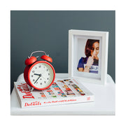 Modern Alarm Clock - Bright Colour Red - Silent 'No Tick' - Newgate Echo CBM134FER (homeware) 1