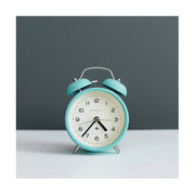 Modern Alarm Clock - Bright Colour Turquoise Blue - Silent 'No Tick' - Newgate Echo CBM134AM (lifestyle) 2