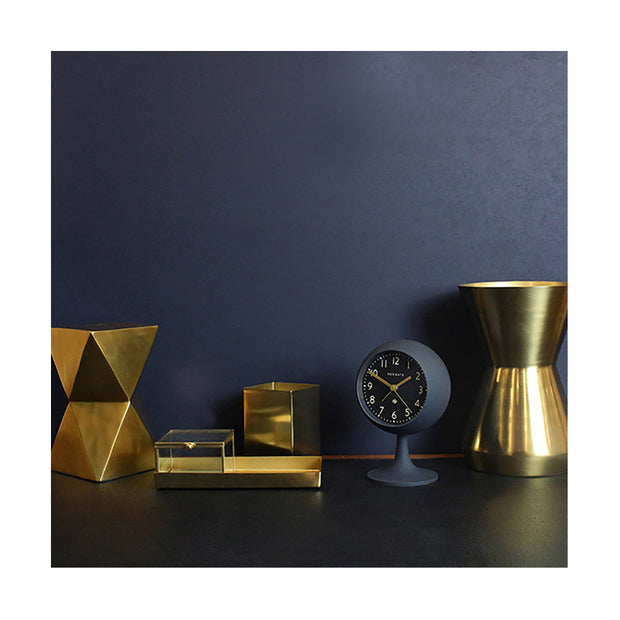 Modern Alarm Clock - Petrol Blue - Silent 'No Tick' - Newgate Dome DOM411PEBL (room decor) 1 copy