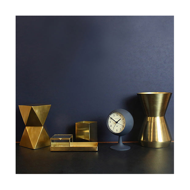 Modern Alarm Clock - Petrol Blue & Black - Silent 'No Tick' - Newgate Dome DOM412PEBL (room decor) 1 copy