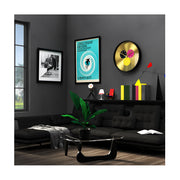 Modern Black Brass Wall Clock - Multicolour Subdial - Newgate Dragon Claw Triptick TRIP710CK style