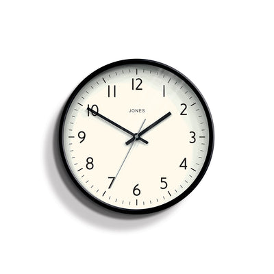 Modern Black Wall Clock - Jones Clocks Studio JPEN52K - front