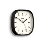 Modern Black Wall Clock Square - Jones Clocks Marvel JMARV145K - skew