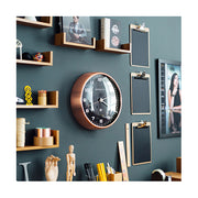 Modern Copper Wall Clock - Silent 'No Tick' - Black Dial - Newgate Chrysler WAT407RAC (homeware) 1 copy
