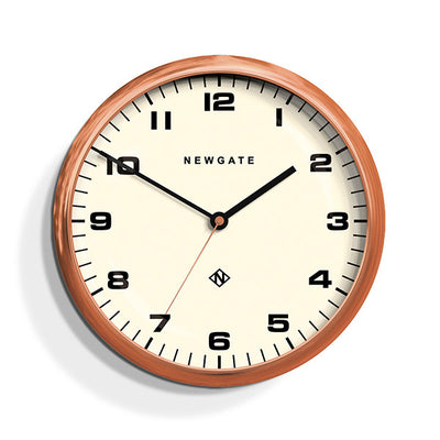 Modern Copper Wall Clock - Silent 'No Tick' - Newgate Chrysler WAT406RAC (front)