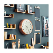 Modern Copper Wall Clock - Silent 'No Tick' - Newgate Chrysler WAT406RAC (homeware) 1 copy