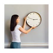 Modern Dark Plwood Wall Clock - Dot Dial - Newgate Mr Clarke MRC161DPLY40 (lifestyle) 1 copy