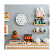 Modern Grey Wall Clock - Minimalist - Newgate Echo NUMTHR129PGY (room decor) 1 copy