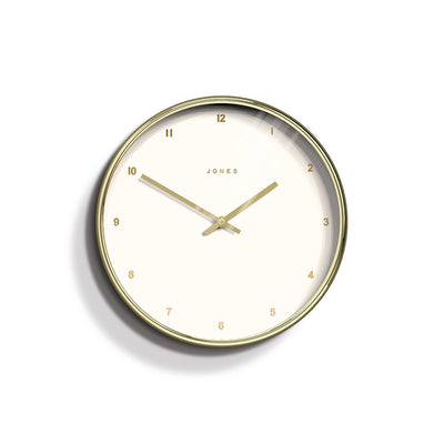 Modern Minimalist Gold Wall Clock - Jones Clocks Penny JPEN87PB