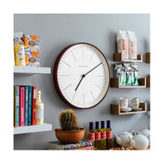 Modern Minimalist Wall Clock - Extra-Large Dark Plywood - Newgate Mr Clarke MRC160DPLY53 (homeware) 1 copy