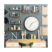 Modern Minimalist Wall Clock - Extra-Large Dark Plywood - Newgate Mr Clarke MRC160DPLY53 (room decor) 1 copy