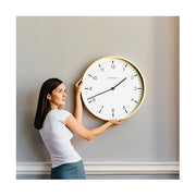 Modern Scandi Wall Clock - Extra-Large Minimalist Plywood - Newgate Mr Clarke MRC159PLY53 (lifestyle) 1 copy