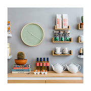 Modern Scandi Wall Clock - Plywood & Green - Newgate Mr Clarke MRC133PLY40 (room decor) 1 copy