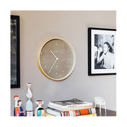 Modern Scandi Wall Clock - Plywood & Sienna - Newgate Mr Clarke MRC140PLY40 (homeware) 1 copy
